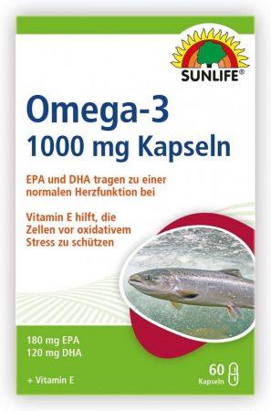 Sunlife Omega 3 kapszulák 60db